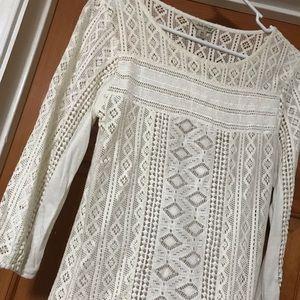 Cream white Lucky Brand blouse